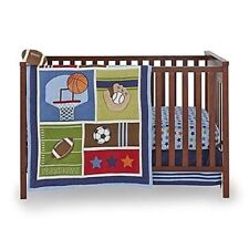 Little Bedding: High Five Sports 6 Piece (W/Bumper) Crib Bedding Set by NoJo