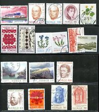 LOT 67343  USED   617 / 641  NORWAY  STAMPS