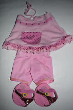 Build-A-Bear Pink Sequin Shirt, Shorts and Sandals