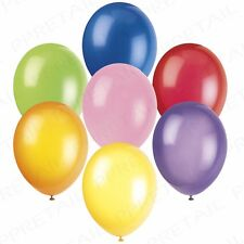 BULK SET 250x COLOURFUL STANDARD PARTY BALLOONS Happy Birthday Blue/Red/Pink UK