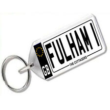 "NUMBER PLATE KEYRING FOR FOOTBALL FANS "" FULHAM 1 """