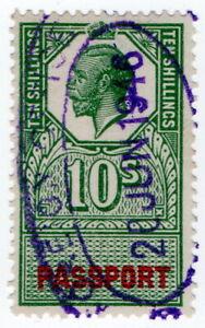 (I.B) George V Revenue : Passport Office 10/- (1940)