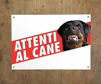 ROTTWEILER 1 Attenti al cane Targa cartello metallo Beware of dog sign metal