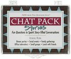 CHAT PACK: STORIES CARDS: FUN QUESTIONS TO SPARK By Questmarc Publishing *VG+*