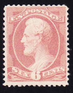US Scott 208 old 6c Lincoln Banknote re-designed M/NG/VF CV $225