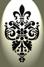 VINTAGE Fleur De Lis STENCIL DAMASCATO Shabby Chic Rustico mylar formato a4 297x210 francese