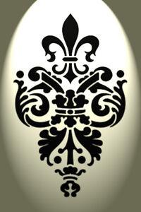 Vintage Fleur de lis damask stencil Shabby Chic Rustic Mylar A4 297x210 French