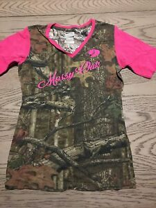 HUNTING TEE SHIRT SIZE L CAMO CAMOUFLAGE PARAMOUNT OUTDOORS MOSSY OAK Pink Youth