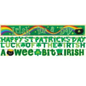 St. Patrick's Day Irish Green Holiday Theme Party Decoration 4-in-1 Banner Set