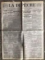N27 La Une Du Journal La Dépêche 13 Décembre 1940