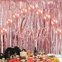 1/2/3MFoil Fringe Tinsel Shimmer Curtain Door Wedding Birthday Party DECORATIONS