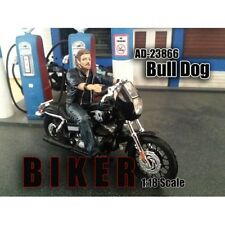 BIKER BULL DOG FIGURE 1:18 SCALE MODEL AMERICAN DIORAMA 23866