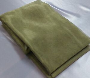 CLEARANCE SPRING GREEN APPLE SAGE ORGANZA  OVERLAYS