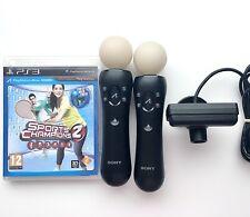 2x Playstation Move Controller + Kamera + Sports Champion