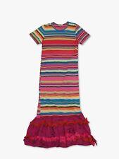 COMME des GARÇONS frilled striped dress