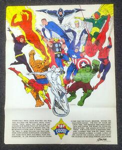 FOOM Poster (Marvel 1973) Jim Steranko art! First Edition EX! NO RES!