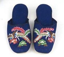 Handmade Embroidered Flying Phoenix Bird Chinese Women's Cotton Slippers New