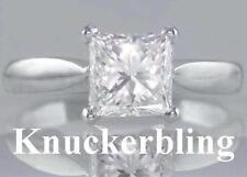 Princess Platinum Excellent Cut VS1 Fine Diamond Rings