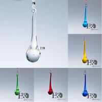 Rain Drop Crystal Prisms Pendant Chandelier Lamp Part Hanging Deocr 20mm*80mm