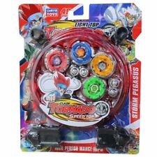 Beyblade Metal Fusion Launcher Arena Stadium with 4 BeyBlade Toy w/ Set Gift
