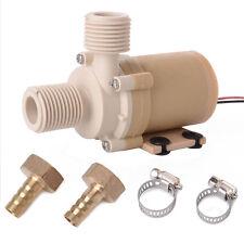 3M/9.8ft Head 12V 100°C Water Circulation Pump Food Grade Silent + Coupler TE089