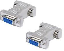 2x DB9 Serial Port Null Modem Adapter F/F 9 Pin Female/Female RS-232 Adaptor