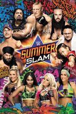 """WWE SUMMERSLAM POSTER """"LICENSED"""" BRAND NEW """"JOHN CENA, BROCK LESNER, SASHA BANKS"""