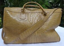 Authentic Brahmin Carry On Natural Rare
