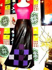 IN LOVE CARLING JUPE POP ROCK SKIRT ATOUT FAUX CUIR PVC PATCHWORKS  T2 OU 36
