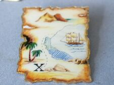 Sail Boat Pin Badge Pirate Treasure Map Pin Badge