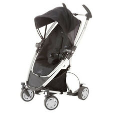 Quinny Zapp Xtra Folding Seat Stroller Black Irony (White Frame) New!! Open Box!