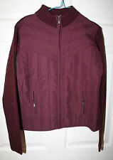 Womens Ladies Sweater Jacket NWT Creazioni Effeci Purple Bordeaux Zip Front XL