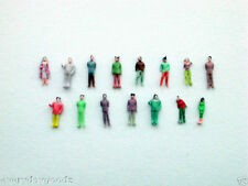 1000x Layout Model Train 1:200 Scale Painted Figures Z
