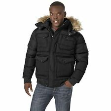 Men's Rocawear Hooded Bubble Parka Black 3XL #NJG13-503