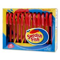 SPANGLER 12pc Candy Canes SWEDISH FISH 5.3 oz CHRISTMAS/HOLIDAY Exp. 4/20+ NEW!