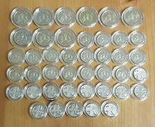 More details for date run of bunc uk/gb 5p coins,five pence 1982-2021,bu/unc,royal mint,43 coins