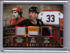 VALERI KHARLAMOV CAM NEELY PATRICK ROY 17/18 Leaf In The Game-Used Patch #d /25