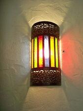 applique murale Marocaine fer forgé lampe lustre lanterne decoration spot multi
