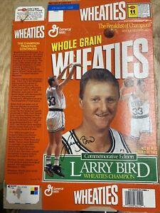 General Mills Wheaties Larry Bird Boston Celtics Commemorative Edition Flat Box