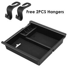 For TOYOTA TACOMA 2016-2018 Console Insert Organizer Tray Box with 2PCS Hangers
