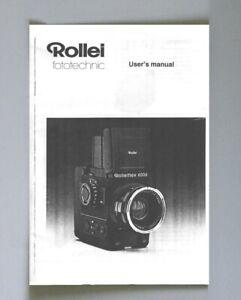 Rollei Rolleiflex 6006 Instruction Manual photocopy
