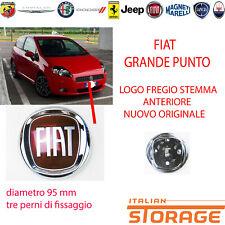 FIAT GRANDE PUNTO LOGO FREGIO STEMMA ANTERIORE ORIGINALE DIAMETRO 95 mm 51932710