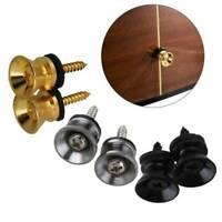 2X Guitar Strap End Pin Button For Electric Guitar Ukulele Bass Cushion Screws