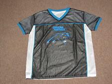 Carolina Panthers Boys Kids White Reversible Flag NFL Football Jersey Shirt XL