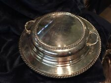 """Sheffield Silver Company Silverplated Covered Serving Tray 11"""""""