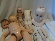 Lot of doll Parts Composition, Bisque, China legs and Arms, Bisque Eyes Tlc