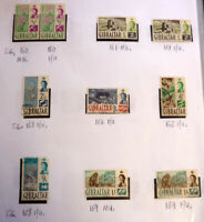 LOT OF 10 OLD GIBRALTAR STAMPS, QEII SG160-169 MINT & USED