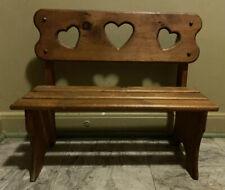 Vintage Child Toddler Wood Sitting Bench Handcrafted