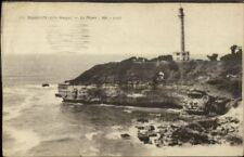 Biarritz France Lighthouse c1915 Postcard Used WWI Soldiers Mail