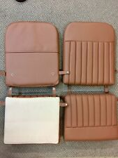 Aeronca 7 Series, Retro Brown Ribbed 4 Cushions Vinyl Seat Cushion Set